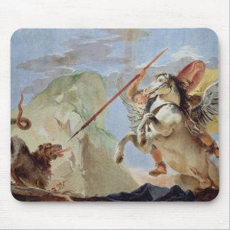 Bellerophon, riding Pegasus, slaying the Chimaera, Mouse Pad