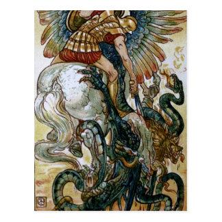 Bellerophon slays the Chimaera Postcard