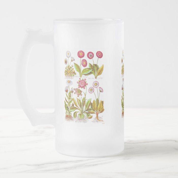 Belles in Pink Frosted Glass Beer Mug
