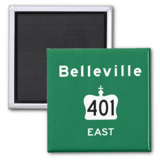 Belleville 401 imán cuadrado