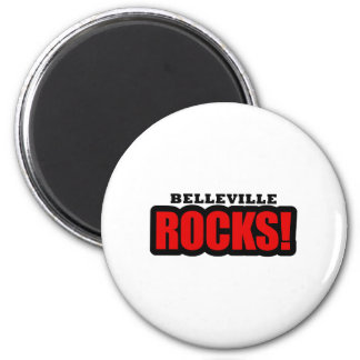 Belleville, Alabama City Design 2 Inch Round Magnet