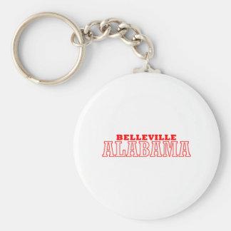 Belleville, Alabama City Design Basic Round Button Keychain