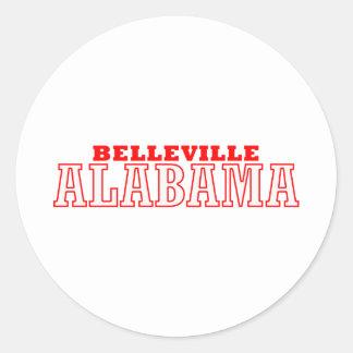 Belleville, Alabama City Design Classic Round Sticker