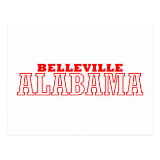 Belleville, Alabama City Design Postcard