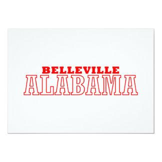 Belleville, diseño de la ciudad de Alabama Invitación Personalizada
