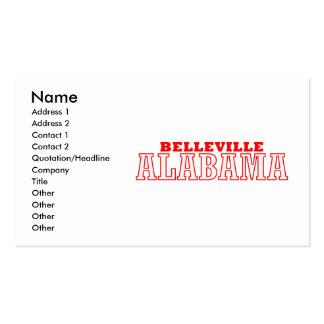 Belleville, diseño de la ciudad de Alabama Tarjeta Personal