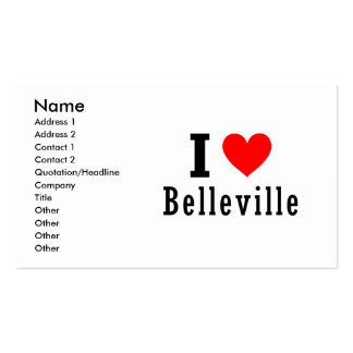 Belleville, diseño de la ciudad de Alabama Tarjetas De Visita