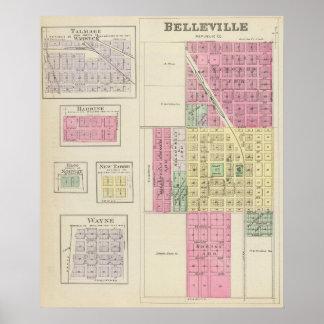 Belleville, Talmage, Harbine, Elgo, Kansas Póster