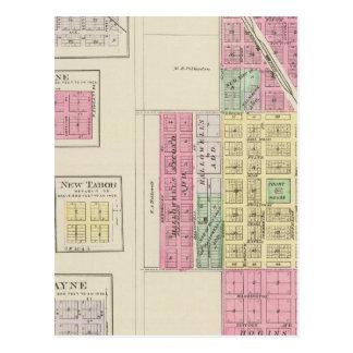 Belleville, Talmage, Harbine, Elgo, Kansas Tarjeta Postal