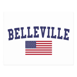 Belleville US Flag Postcard