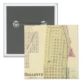 Bellevue and La Platte, Nebraska 2 Inch Square Button