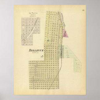Bellevue and La Platte, Nebraska Poster