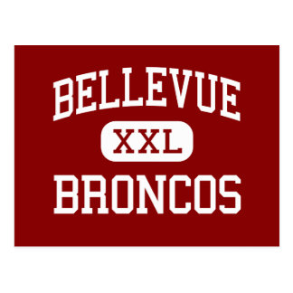 Bellevue - caballos salvajes - centro - Bellevue M Tarjeta Postal