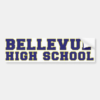 Bellevue High School Bumper Sticker Car Bumper Sticker