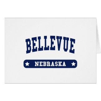 Bellevue Nebraska College Style t shirts Cards