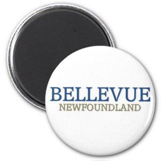 Bellevue Newfoundland 2 Inch Round Magnet