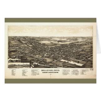 Bellevue Ohio Sandusky & Huron counties (1888) Card