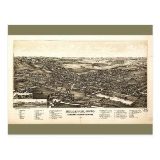 Bellevue Ohio Sandusky & Huron counties (1888) Postcard