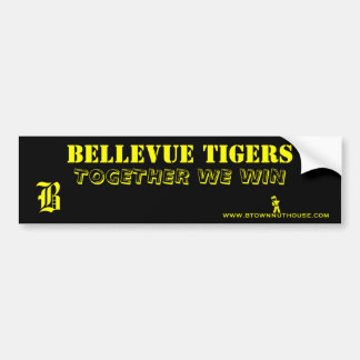 BELLEVUE TIGERS TOGETHER WE WIN STICKER