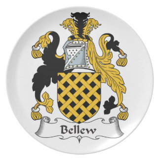 Bellew Family Crest Party Plate