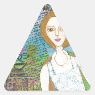 Belleza 001.jpg pegatina triangular