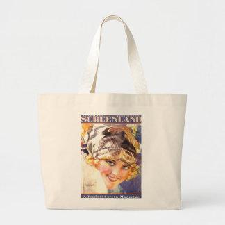 Belleza 1924 de la actriz de la película muda de bolsa tela grande