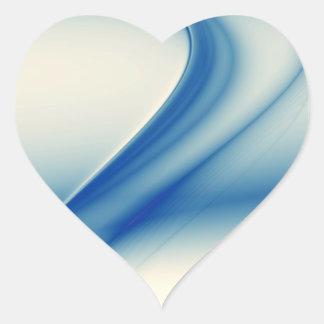 Belleza abstracta azul pegatina en forma de corazón