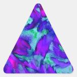 Belleza abstracta floral púrpura del diseñador de  pegatinas de trianguladas
