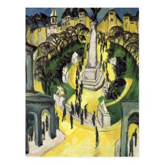 Belleza Alliance Platz de Ernst Kirchner- Der en B Tarjeta Postal