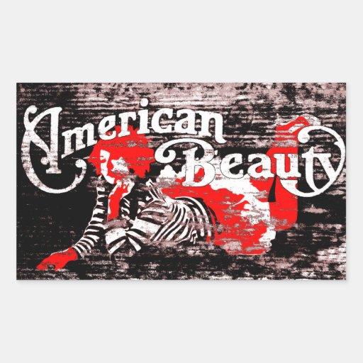 belleza americana rectangular altavoz