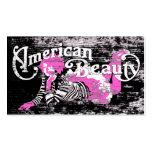 belleza americana tarjetas de visita