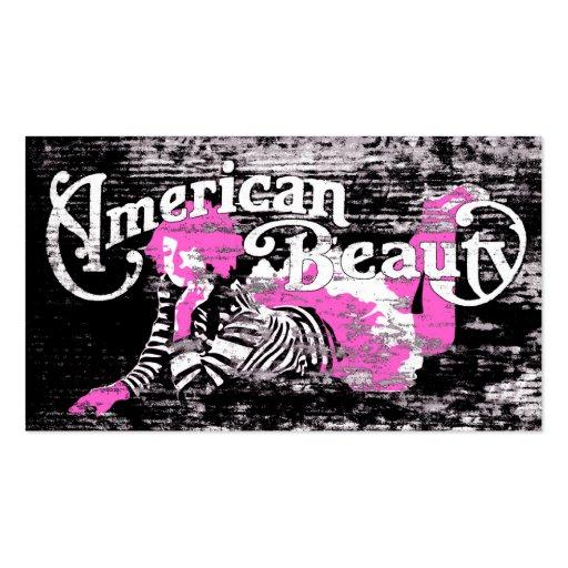 belleza americana tarjetas personales