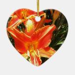 Belleza anaranjada ornaments para arbol de navidad