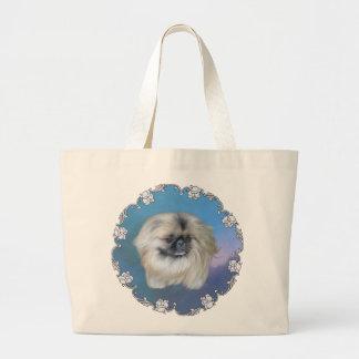 Belleza azul bolsa tela grande