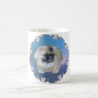 Belleza azul taza básica blanca