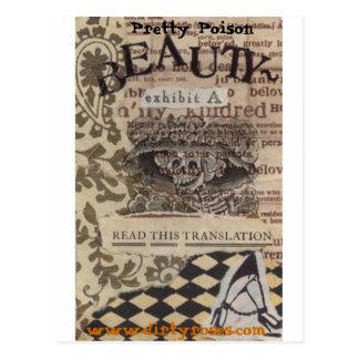 Belleza bonita del veneno postal