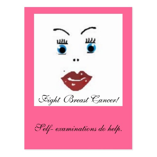 ¡belleza, cáncer de pecho de la lucha! , tarjeta postal