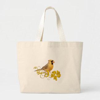 Belleza cardinal amarilla bolsa