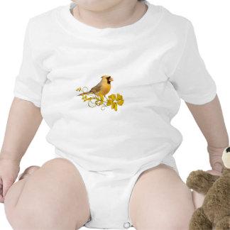 Belleza cardinal amarilla trajes de bebé