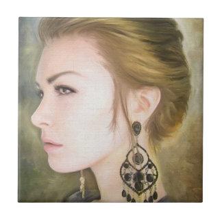 Belleza clásica del arte de la pintura del retrato tejas  cerámicas
