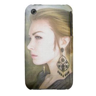 Belleza clásica del arte de la pintura del retrato iPhone 3 cárcasas