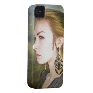 Belleza clásica del arte de la pintura del retrato iPhone 4 Case-Mate carcasa
