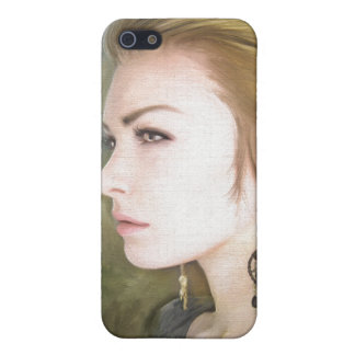 Belleza clásica del arte de la pintura del retrato iPhone 5 cárcasas