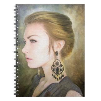 Belleza clásica del arte de la pintura del retrato cuadernos