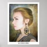 Belleza clásica del arte de la pintura del retrato posters