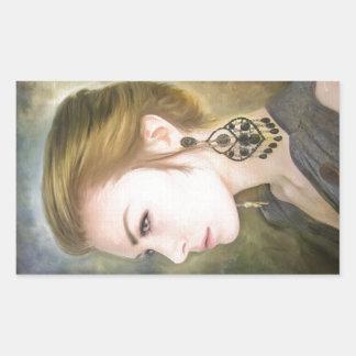 Belleza clásica del arte de la pintura del retrato rectangular altavoces
