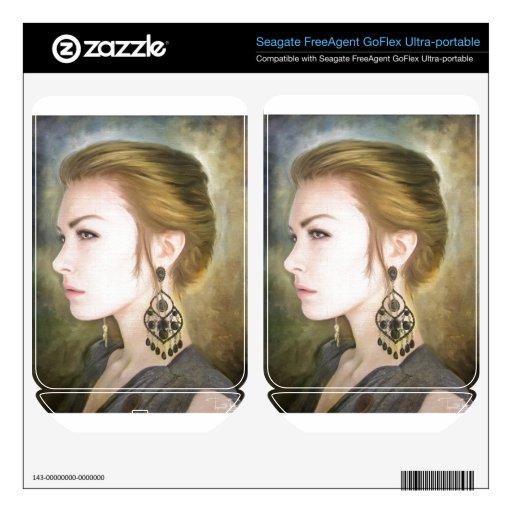 Belleza clásica del arte de la pintura del retrato FreeAgent GoFlex skin