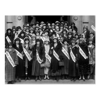 Belleza Contestants, 1923 Tarjeta Postal
