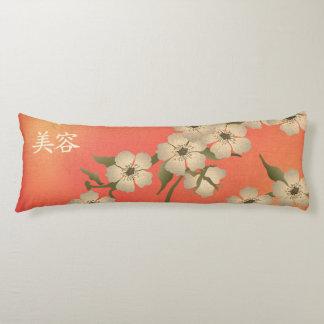 """""""Belleza coralina """" del flor del corazón blanco Almohada"""
