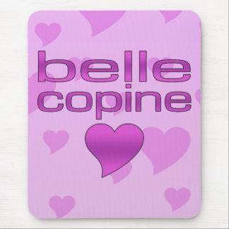 Belleza corazones rosados y púrpuras de Copine del Tapetes De Ratón